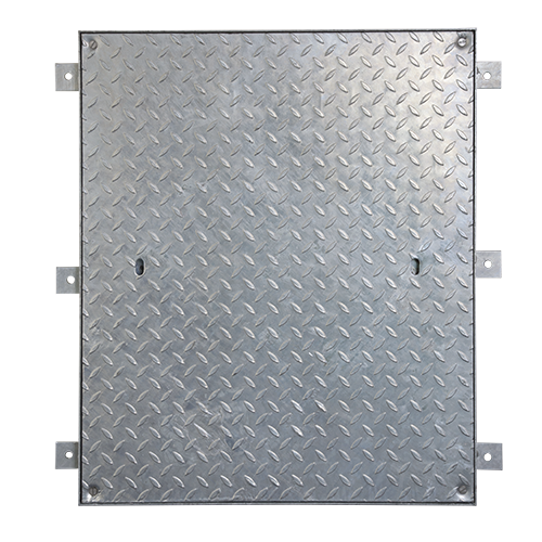 Access Cover, Locking, Galv, Solid Top, 750mm x 600mm (Facta AA)