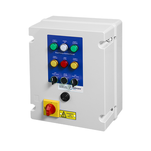 Control Panel Metal, 3 Phase (1-4kW) with 10hr Changeover Timer c/w V/F