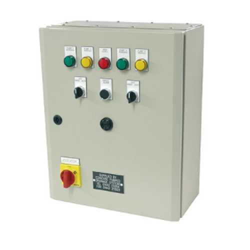 Control Panel Metal, DOL, (Dual Pump) 3 Phase (1-4kW) c/w V/F