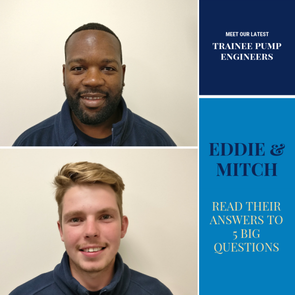 Meet our Two New Trainee Pump Engineers!