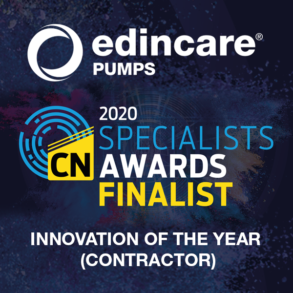 Edincare Pumps is shortlisted for the Construction News Specialist Awards 2020
